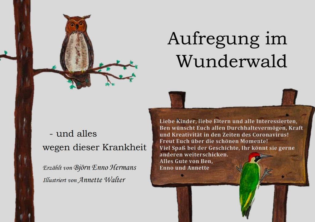 Bilderbuch Aufregung Wunderwald Hermans und Walter